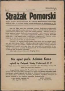 Strażak Pomorski 1937, R. 11 nr 2