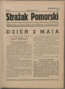 Strażak Pomorski 1937, R. 11 nr 4
