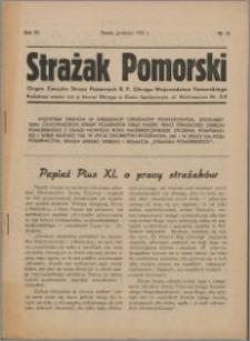 Strażak Pomorski 1937, R. 11 nr 12