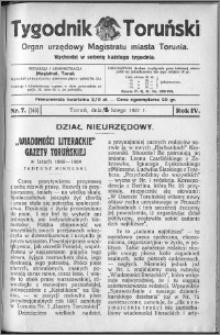 Tygodnik Toruński 1927, R. 4, nr 7