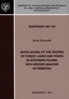 Mites (Acari) of the shores of forest lakes and ponds in northern Poland, with species analysis of Oribatida