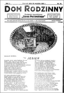 Dom Rodzinny : dodatek tygodniowy Słowa Pomorskiego, 1925.09.25 R. 1 nr 15
