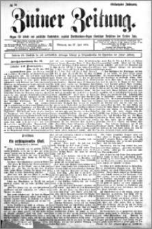 Zniner Zeitung 1904.07.27 R.17 nr 58