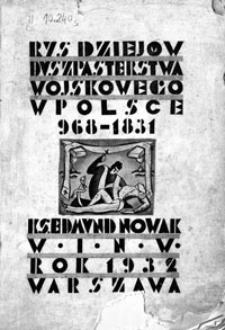 Rys dziejów duszpasterstwa wojskowego w Polsce 968-1831