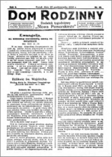 Dom Rodzinny : dodatek tygodniowy Słowa Pomorskiego, 1926.10.22 R. 2 nr 42