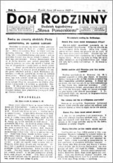 Dom Rodzinny : dodatek tygodniowy Słowa Pomorskiego, 1927.03.25 R. 3 nr 12
