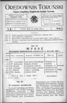 Orędownik Toruński 1928, R. 5, nr 7
