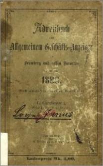 Adressbuch nebst allgemeinem Geschäfts-Anzeiger von Bromberg und dessen Vororten auf das Jahr 1888 : nach amtlichen Quellen