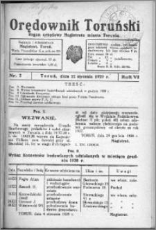 Orędownik Toruński 1929, R. 6, nr 2