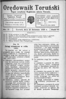 Orędownik Toruński 1929, R. 6, nr 15