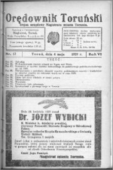 Orędownik Toruński 1929, R. 6, nr 17