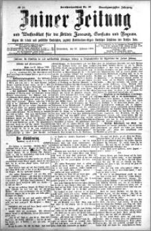 Zniner Zeitung 1908.02.22 R. 21 nr 16