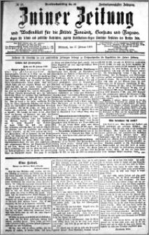 Zniner Zeitung 1909.02.17 R. 22 nr 14