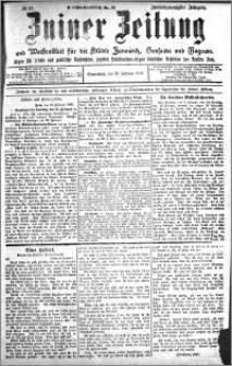 Zniner Zeitung 1909.02.20 R. 22 nr 15