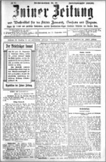 Zniner Zeitung 1909.09.11 R. 22 nr 73