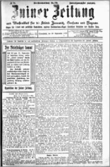 Zniner Zeitung 1909.09.18 R. 21 nr 75