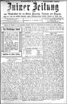 Zniner Zeitung 1909.09.25 R. 22 nr 77