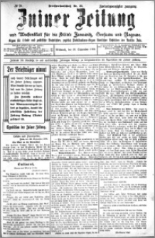 Zniner Zeitung 1909.09.29 R. 22 nr 78