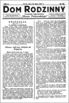 Dom Rodzinny : dodatek tygodniowy Słowa Pomorskiego, 1927.07.22 R. 3 nr 29