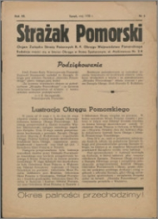 Strażak Pomorski 1938, R. 12 nr 5