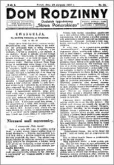 Dom Rodzinny : dodatek tygodniowy Słowa Pomorskiego, 1927.08.26 R. 3 nr 34