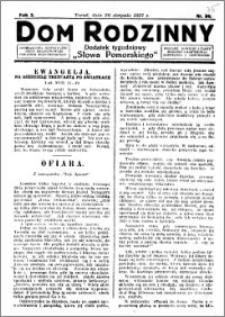 Dom Rodzinny : dodatek tygodniowy Słowa Pomorskiego, 1927.08.26 R. 3 nr 35