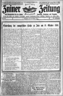 Zniner Zeitung 1910.10.22 R. 23 nr 85