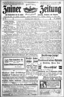 Zniner Zeitung 1910.10.29 R. 23 nr 87