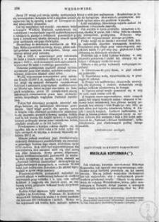 Przyczynek do kwestji narodowości Mikołaja Kopernika
