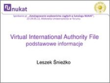 VIAF - podstawowe informacje