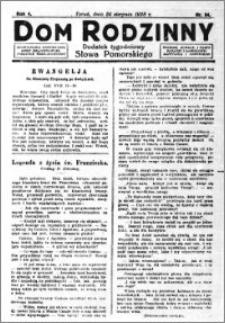 Dom Rodzinny : dodatek tygodniowy Słowa Pomorskiego, 1928.08.24 R. 4 nr 34