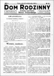 Dom Rodzinny : dodatek tygodniowy Słowa Pomorskiego, 1928.10.12 R. 4 nr 41