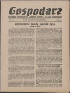 """Gospodarz : dodatek tygodniowy """"Obrony Ludu"""" i """"Głosu Robotnika"""" 1931, R. 1 nr 8"""