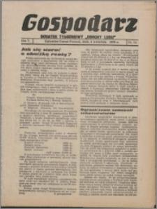 """Gospodarz : dodatek tygodniowy """"Obrony Ludu"""" i """"Głosu Robotnika"""" 1935, R. 5 nr 14"""