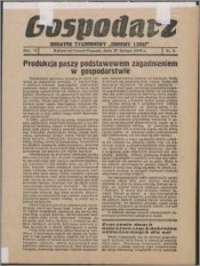 """Gospodarz : dodatek tygodniowy """"Obrony Ludu"""" i """"Głosu Robotnika"""" 1936, R. 6 nr 8"""