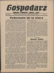 """Gospodarz : dodatek tygodniowy """"Obrony Ludu"""" i """"Głosu Robotnika"""" 1938, R. 8 nr 11"""