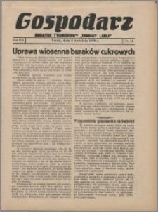 """Gospodarz : dodatek tygodniowy """"Obrony Ludu"""" i """"Głosu Robotnika"""" 1938, R. 8 nr 14"""