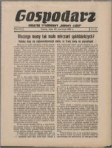 """Gospodarz : dodatek tygodniowy """"Obrony Ludu"""" i """"Głosu Robotnika"""" 1938, R. 8 nr 24"""