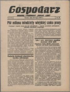"""Gospodarz : dodatek tygodniowy """"Obrony Ludu"""" i """"Głosu Robotnika"""" 1938, R. 8 nr 28"""