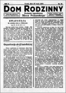 Dom Rodzinny : dodatek tygodniowy Słowa Pomorskiego, 1929.05.10 R. 5 nr 19