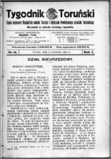 Tygodnik Toruński 1924, R. 1, nr 14