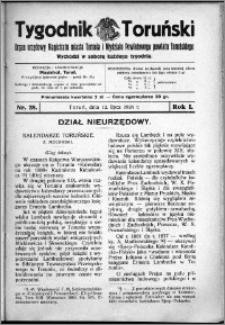 Tygodnik Toruński 1924, R. 1, nr 28
