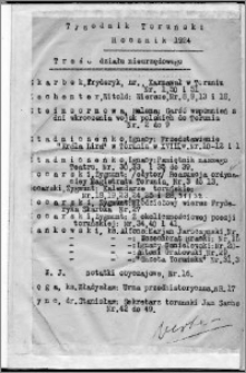 Tygodnik Toruński 1924, R. 1, Treść działu nieurzędowego