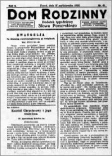 Dom Rodzinny : dodatek tygodniowy Słowa Pomorskiego, 1929.10.11 R. 5 nr 41