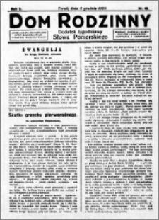 Dom Rodzinny : dodatek tygodniowy Słowa Pomorskiego, 1929.12.06 R. 5 nr 49