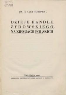 Dzieje handlu żydowskiego na ziemiach polskich