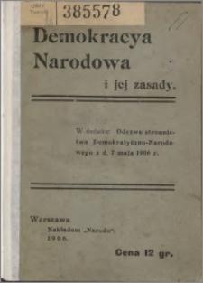 Demokracja narodowa i jej zasady
