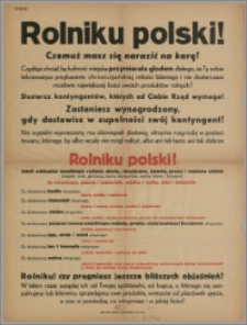 Rolniku Polski! : czemuż masz się narażać na karę? [...]