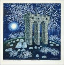 Księżycowa noc III z ruinami
