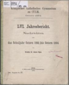 Jahresbericht, Nachrichten über das Schuljahr Oster 1893 bis Ostern 1894
